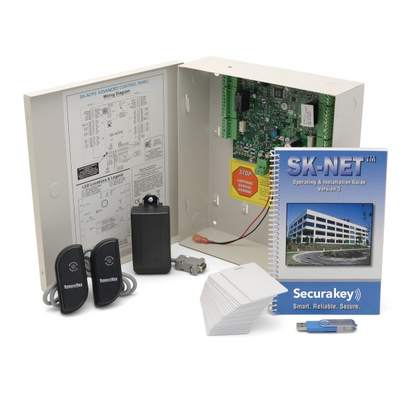 Secura Key SYSKIT1 Access Control Kit, 2 Mullion Readers, Includes Molded Cards