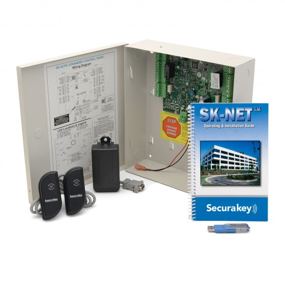 Secura Key SYSKIT-5 Two-Door LF Access Control Starter Kit With 2 Mullion Readers (No Cards)