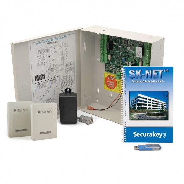 Secura Key SYSKIT-6 Two-Door LF Access Control Starter Kit With 2 Switchplate Readers (No Cards)