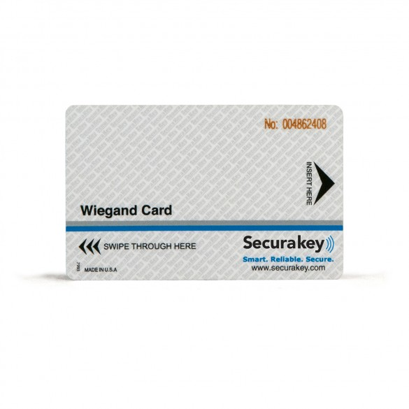Secura Key WCCI-10 Wiegand Cards (30-mil) w/ Laser Engraving - Sensor/HID Compatible for Wiegand Swipe Readers