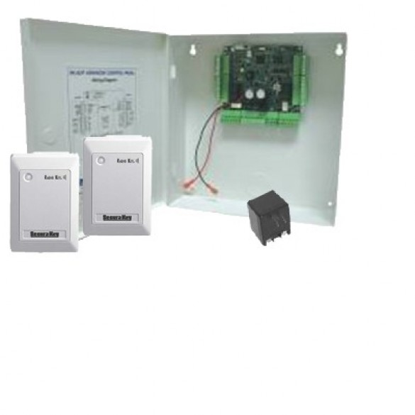 Secura Key SYSKIT-4 Two-Door LF Access Control Add-On Kit With 2 Switchplate Readers (No Cards)