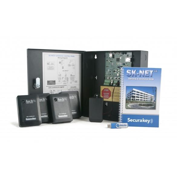 Secura Key SK-MRCP-4RKDT-S NOVA.16 4-Door Kit w/ 4 RKDT Wall Switch Dual-Tech Prox Readers