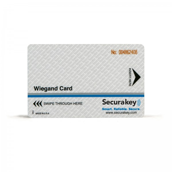 Secura Key WCCI-16 Wiegand/Prox Cards (47-mil) w/ Laser Engraving - Sensor/HID Compatible w/ Wiegand Swipe Readers