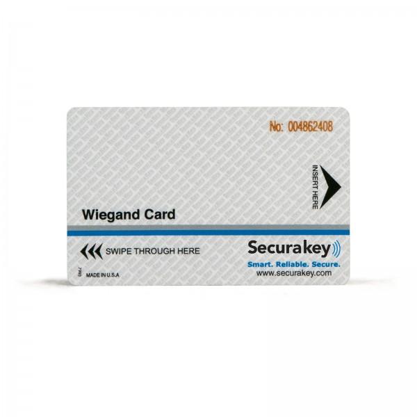 Secura Key WCCI-20 Wiegand/HF Cards (37-mil) w/ Laser Engraving - Sensor/HID Compatible w/ Wiegand Swipe Readers