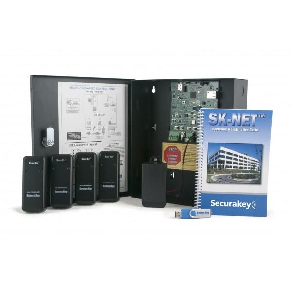 Securakey SK-MRCP-4ETSR-M Multi-Door Access Control System 4-Door Kit eTag (Mullion) Contactless Reader