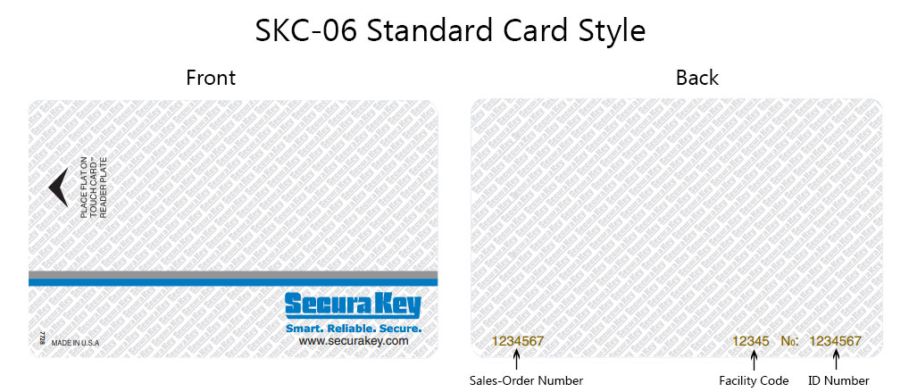 SKC-06 Standard Card Style